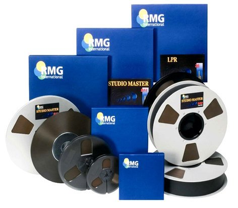 """RMGI SM911-34230 1/2"""" x 2500 ft Recording Tape on Hub without Reel in Hinged Box SM911-34230"""