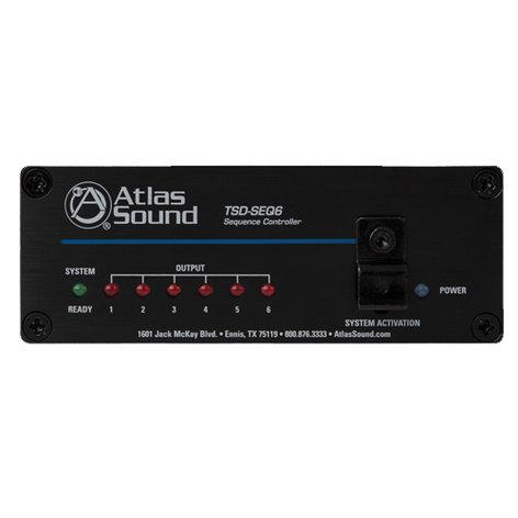 Atlas Sound TSD-SEQ6  AC Sequence Controller  TSD-SEQ6