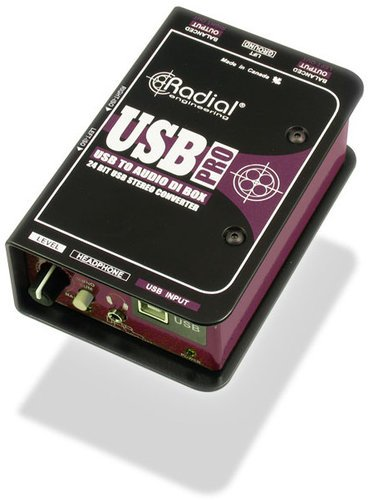 Radial Engineering USB-Pro Digital Stereo DI for Laptops with Level Control USB-PRO
