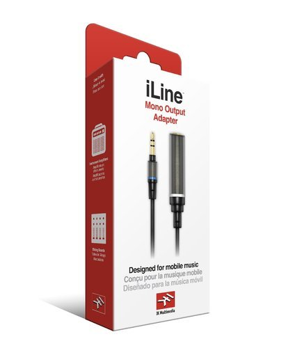 "IK Multimedia iLine Mono Output Adapter 1/8"" stereo male to 1/4"" mono female ILINE-MONO-OUT-ADP"