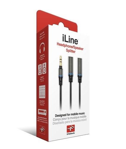 "IK Multimedia ILINE-HP-SPLITTER iLine Headphone Splitter 1/8"" stereo male to 2 x 1/8"" stereo female ILINE-HP-SPLITTER"