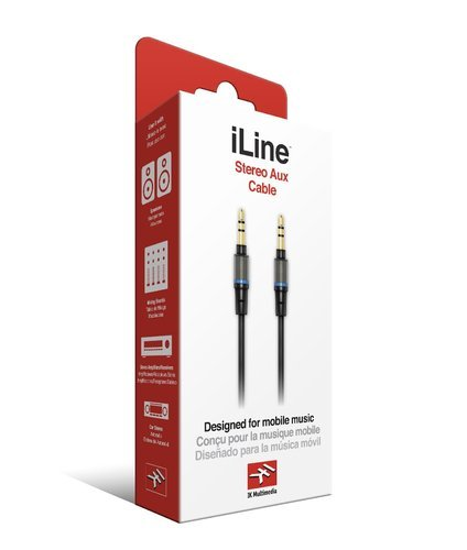"IK Multimedia iLine Stereo Aux Cable 1/8"" stereo male to 1/8"" stereo male ILINE-STEREO-AUX"