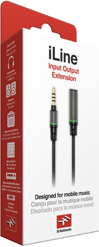 """IK Multimedia iLine Input Output Extension 1/8"""" TRRS male to 1/8"""" TRRS female ILINE-INPUT-OUT-ADP"""