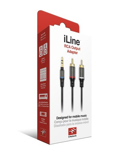 "IK Multimedia iLine RCA Output Adapter 1/8"" stereo male to 2 x RCA mono male ILINE-RCA-OUT-ADP"