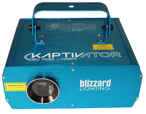 Blizzard Lighting Kaptivator High Power Class 3R 250MW RGB Laser Effects Fixture KAPTIVATOR