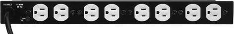 Middle Atlantic Products PD-915RC-20  15 Amp 9 Outlet 120 Volt Rackmount Power Strip PD-915RC-20