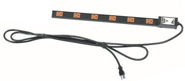 Middle Atlantic Products PDT-615C-NS  15 Amp 6 Outlet Thin Power Strip PDT-615C-NS