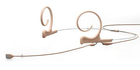 DPA Microphones FIDF00-M-2 d:fine Dual Hook Cardioid Condenser Earworn Microphone in Beige FIDF00-M-2