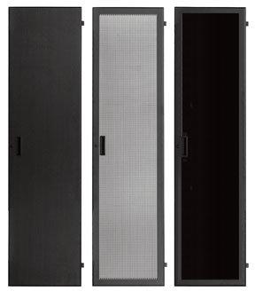 Lowell LFD-40P 40 RU Smoked Plexiglas Rack Front Door with Lock LFD40P