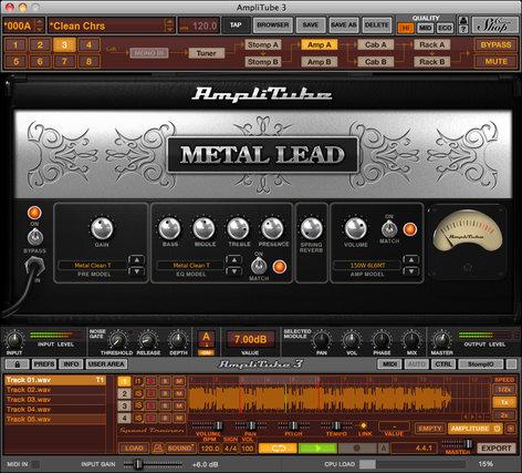 IK Multimedia Amplitube Metal Metal Distortion Guitar Software Plug-in (Electronic Delivery) AMPLITUBE-METAL