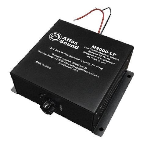 "Atlas Sound M2000-LP  70V 2x4"" Low-Profile Sound Masking Speaker M2000-LP"