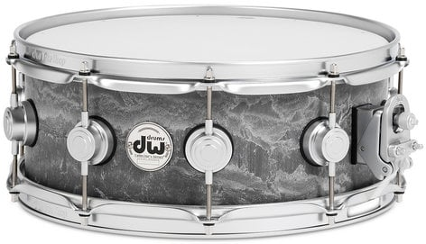 "DW DRVC5514SVS Collector's Series 5.5""x14"" Concrete Snare Drum with Satin Chrome Hardware DRVC5514SVS"