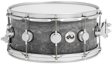 "DW DRVC6514SVS Collector's Series 6.5""x14"" Concrete Snare Drum with Satin Chrome Hardware DRVC6514SVS"
