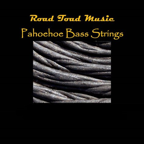 Kala Brand Music Co. RT-BASS-4-STRING-SET Road Toad Pahoehoe Black Polyurethane 4-String Set for U-BASS™ RT-BASS-4STRING