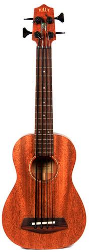 Kala Brand Music Co. UBASS-SMHG-FS Solid Mahogany U-BASS Fretted Bass Ukulele UBASS-SMHG-FS