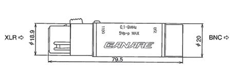 Canare BCJ-XJ-A10TRC 110-75-Ohm Digital Audio Impedance Transformer BCJ-XJ-A10TRC