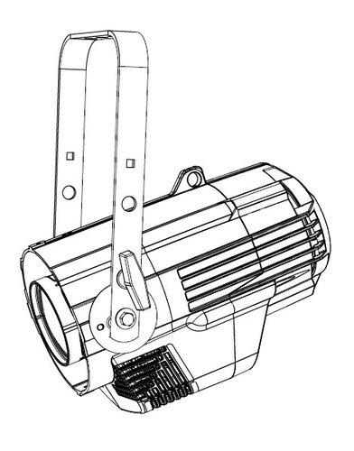 ETC/Elec Theatre Controls S4LEDL-0X Source Four LED Lustr+, Engine Body only, Bare-End Lead S4LEDL-0-X