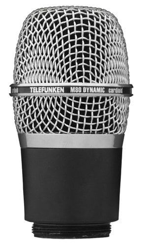 Telefunken Elektroakustik M80-WH Wireless Microphone Capsule for Shure Transmitters with Chrome Grille M80-WH