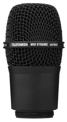 Telefunken Elektroakustik M80-WHB Wireless Microphone Capsule for Shure Transmitters with Black Grille M80-WH-BLACK