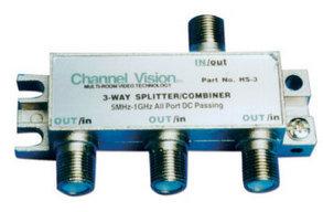 Channel Vision HS-3  3-Way Splitter  HS-3