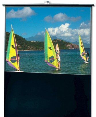 """Draper Shade and Screen 230107  80"""" Traveller Portable Projection Screen, Matte White 230107"""
