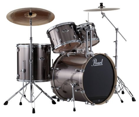 Pearl Drums EXX705-21  EXX Export Series 5-Piece Drum Kit with Hardware in Smokey Chrome Finish EXX705-21
