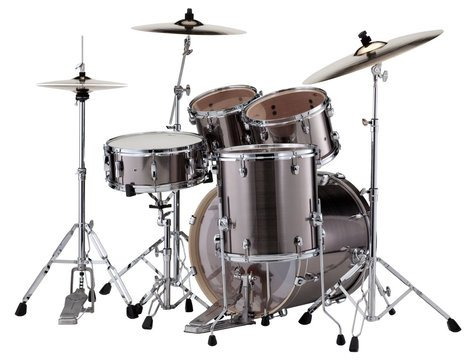 Pearl Drums EXX725S-21 EXX Export Series 5-Piece Drum Kit with Hardware in Smokey Chrome Finish EXX725S-21