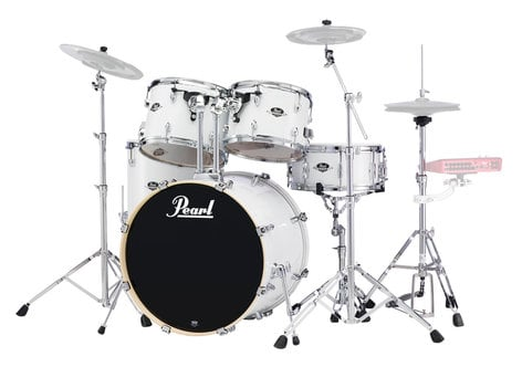 Pearl Drums EXX725S-33 EXX Export Series 5-Piece Drum Kit with Hardware in Pure White Finish EXX725S-33
