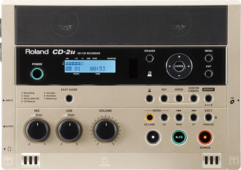 Roland CD-2u Portable SD/CD Recorder CD2U