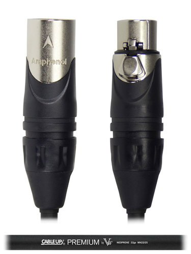Cable Up by Vu MIC-ANA-XX-1 1 ft Neoprene XLR Microphone Cable MIC-ANA-XX-1