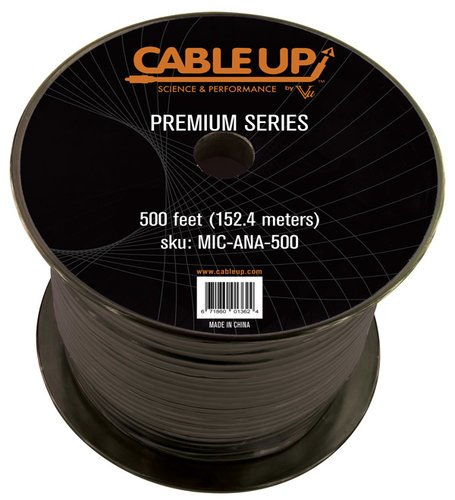 Cable Up by Vu MIC-ANA-500 500 ft Spool of Premium Neoprene Audio Cable MIC-ANA-500