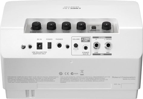 Roland CUBE Lite MONITOR 10W Modeling Microphone/Keyboard Monitor Amplifier in White CUBE-LM-WH