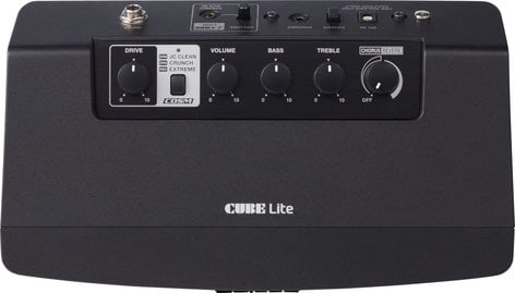 Roland CUBE Lite 10W Modeling Guitar Amplifier with COSM Tones, iOS Interfacing CUBE-LT-BK
