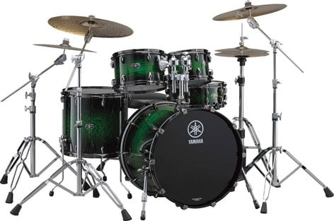 "Yamaha LC0F40 4 Piece Live Custom Shell Pack: 10"", 12"", 14"", 20"" without Snare Drum LC0F40"