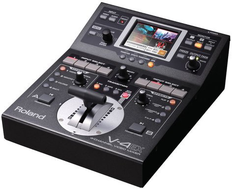 Roland System Group V-4EX Video Mixer with HDMI I/O, Streaming USB Out, Built-In Multiviewer V-4EX
