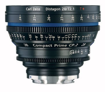 Zeiss CP.2 28mm f/2.1 EF FT CP.2 28mm f/2.1 Compact Prime Cine Lens, EF Mount, 1834-248 CP2-28-2.1-EF-FT