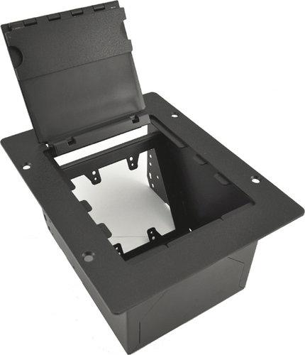 FSR, Inc FP-2-BLK  2 Gang Floor Pocket, with Black Cover FP-2-BLK