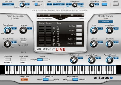 Antares AUTO-TUNE-LIVE  Real-Time Pitch Correction and Auto-Tune Vocal Effect AUTO-TUNE-LIVE