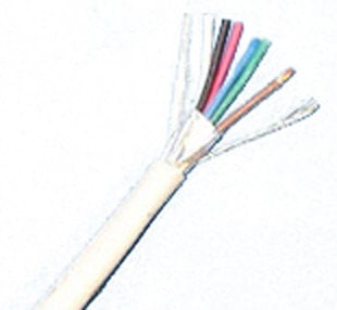 Liberty AV Solutions 22-6C-PSH-WHT  1000' White Commercial Grade 22 AWG 6 Conductor Plenum Shielded Cable 22-6C-PSH-WHT