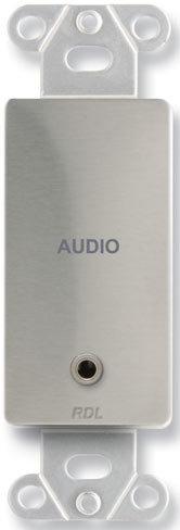 Radio Design Labs DS-MJPT  Decora-Style Stainless Steel Mini-Jack Pass-Thru Plate DS-MJPT