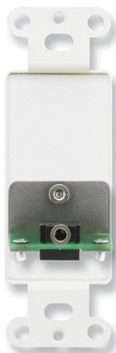 Radio Design Labs DS-MJPT  Decora-Style Stainless Steel Mini-Jack Pass-Thru Plate DS-MJPT