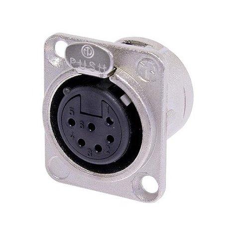 Neutrik NC6FSD-L-1  6-Pin Switchcraft-Style XLR-F Connector NC6FSD-L-1