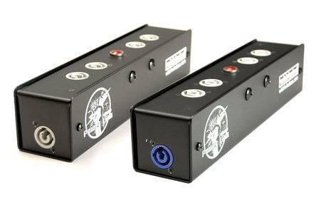 Whirlwind PL1-420-NAC3 Power Link Distro with (1) 20A Powercon Inlet and (5) 20A Powercon Outlets PL1-420-NAC3