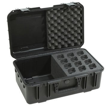 SKB Cases 3I-2011-MC12 Molded Case with Foam for 12 Microphones and Cables 3I-2011-MC12