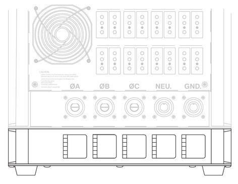 ETC 7052A2024 Cam-Lok Pass Thru Panel for Sensor Portable Packs 7052A2024