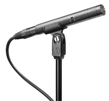Audio-Technica AT4022 Small Diaphragm Condenser Microphone, Omnidirectional, -10dB Pad, Hi-pass Filter AT4022
