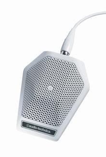 Audio-Technica U851RW Cardioid Condenser Boundary Microphone in White, Non-Power Module Model U851RW