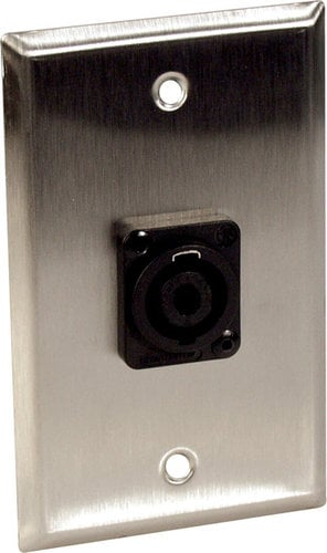 TecNec WPL1123  1-Gang Wall Plates with One Neutrik 4 pole Speakon Connector WPL1123
