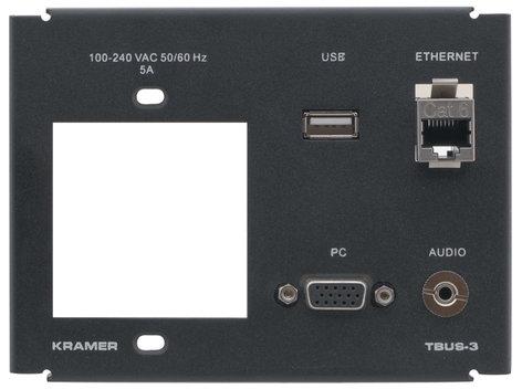 Kramer T3F-1S  Inner Frame for TBUS-3XL (1 Power, 1 PC, 1 USB, 1 RJ-45, 1 3.5mm) T3F-1S