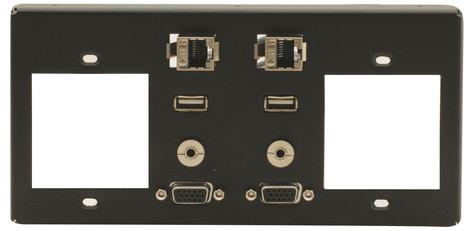 Kramer T4F-2S  Inner Frame for TBUS-4XL (2 Power, 2 PC, 2 USB, 2 RJ-45, (2) 3.5mm) T4F-2S